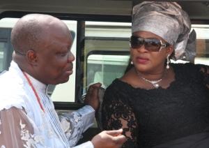 Governor Emmanuel Uduaghan of Delta State (left) and Aviation Minister, Mrs. Stella Oduah.